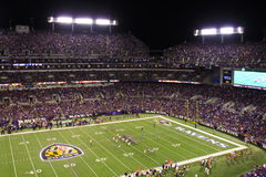 NFL Football Monday Night Lights Royalty Free Stock Photography
