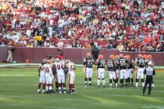 NFL Football: Redskins v. Browns. Fedex Field, Washington DC: Washington Redskins defeating Cleveland Browns 14-11 during a football game on October 19, 2008 stock image
