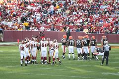 NFL Football: Redskins v. Browns. Fedex Field, Washington DC: Washington Redskins defeating Cleveland Browns 14-11 during a football game on October 19, 2008 stock images