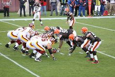 NFL Football: Redskins v. Browns Stock Photos