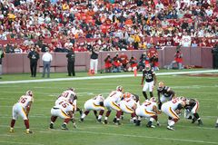 NFL Football: Redskins v. Browns. Fedex Field, Washington DC: Washington Redskins defeating Cleveland Browns 14-11 during a football game on October 19, 2008 stock photo
