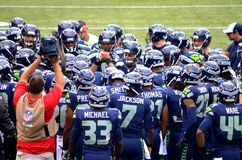 NFL Football Seattle Seahawks Royalty Free Stock Photo
