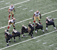 Nfl-fotbolllek November 9th, 2014 New Orleans Saints vs San Francisco 49ers på Mercedes-Benz Superdome Arkivfoton