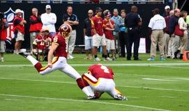 NFL - Indianer-Kicker Suisham wärmt auf Stockfotografie