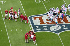 NFL - intervalo de parada de ferimento Foto de Stock Royalty Free