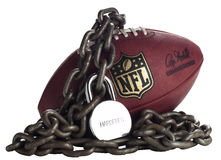 NFL Lockout -Studio White Royalty Free Stock Photography