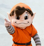 NFL Mascot Brownie the Elf Cleveland Browns. Brownie the Elf makes an appearance at the Cleveland Browns 2016 Orange and Brown Scrimmage held at Ohio Stadium on stock images