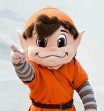 Nfl-Maskottchen-Schokoladenkuchen die Elfe Cleveland Browns stockbilder