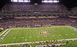 NFL Monday Night Football Under the Lights. A view of a sold out M&T Bank Stadium during a Monday night NFL football game between the Baltimore Ravens and Stock Photos