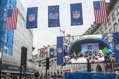 NFL på Regent Street Fotografering för Bildbyråer