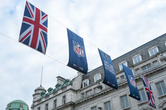 NFL på Regent Street Royaltyfri Foto