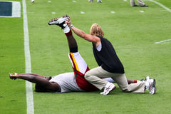 NFL - Pregame Stretching Stock Image