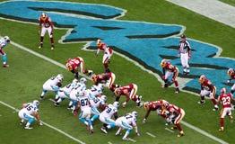 NFL - primo ed obiettivo! Fotografie Stock Libere da Diritti
