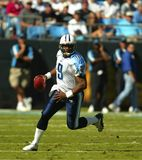 NFL Quarterback Steve McNair. Oct 19, 2003 - Tennessee Titans Quarterback, Steve McNair, takes his team to victory over the undefeated, Carolina Panthers, at Stock Images