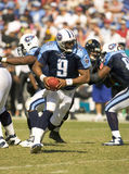 NFL Quarterback Steve McNair. Sep 27, 2004 - Tennessee Titans' Quarterback, Steve McNair, prepares to hand off to his running backs during their game against the Stock Photography