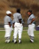 NFL Referees. Contemplating decisions is a complicated task especially when it is done by a panel rather than an individual Royalty Free Stock Photo