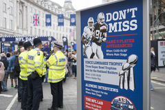 NFL on Regent Street Royalty Free Stock Photos
