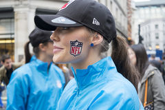 NFL on Regent Street Royalty Free Stock Photo