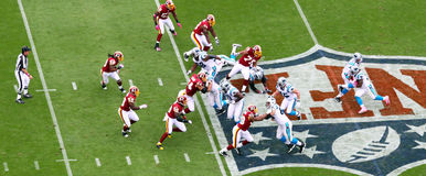 NFL - running play Royalty Free Stock Images