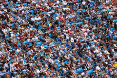 NFL - a sea of colorful fans. A view of Redskins fans in Bank of America Stadium during an NFL football game between the Washington Redskins and Carolina Royalty Free Stock Photos