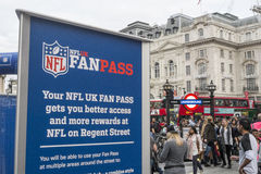 NFL su Regent Street Immagini Stock Libere da Diritti