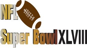 NFL Super Bowl Clip Art Royalty Free Stock Photography