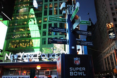 NFL Super Bowl XLVIII NYC Stock Foto's