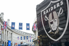 NFL sur Regent Street Photos stock