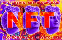 Free NFT Non Fungible Token. Crypto Art Concept. Technology Selling Unique Collectibles, Games Characters, Blockchain Assets Stock Image - 214332051