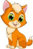 NFunny redhead kitten Stock Image