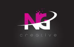 NG N G Creative Letters Design With White Pink Colors Royalty Free Stock Photography