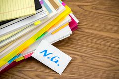 NG; The Pile of Business Documents on the Desk.  royalty free stock image