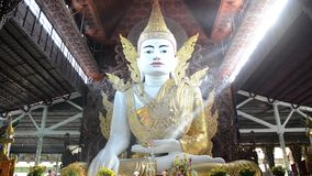 Nga Htat Gyi, also known as the five-storey Buddha stock video footage