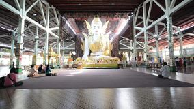Nga Htat Gyi, also known as the five-storey Buddha stock video