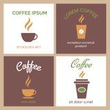 Ånga kaffe- eller chokladkoppsymboler Royaltyfria Bilder