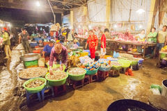 Nga Nam浮动市场 图库摄影
