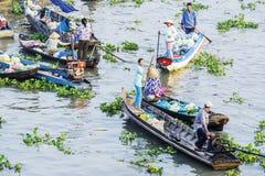 Nga Nam spławowy rynek w Księżycowym nowym roku Zdjęcia Royalty Free
