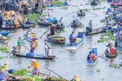 Nga Nam spławowy rynek w Księżycowym nowym roku Obraz Stock