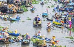 Nga Nam spławowy rynek w Księżycowym nowym roku Obrazy Royalty Free
