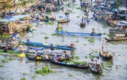 Nga Nam spławowy rynek w ranku Obrazy Stock