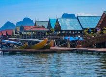 Κόλπος Nga Phang, Ταϊλάνδη, χωριό ψαράδων στοκ φωτογραφίες