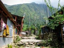 Ngadi village, Nepal - Annapurna trekking royalty free stock image