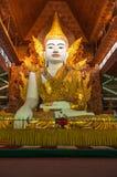 Ngahtatgyi Paya,Beautiful sitting Buddha (The Five Storey Buddha), Yangon, Myanmar. Stock Image
