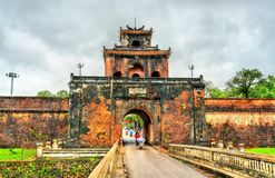 Ngan Gate to the Imperial City in Hue, Vietnam. Ngan Gate to the Imperial City in Hue. UNESCO world heritage in Vietnam stock photos