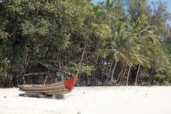 Ngapali海滩,缅甸 免版税库存照片
