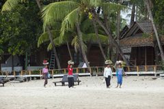 Ngapali beach myanmar Stock Photos