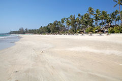 Ngapali beach, Myanmar Royalty Free Stock Images