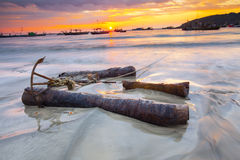 Ngapali beach myanmar Royalty Free Stock Photos