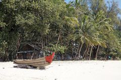 Ngapali beach, Myanmar Royalty Free Stock Photos