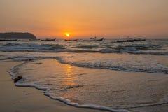 Ngapali strand - statliga Rakhine - Myanmar Royaltyfria Foton